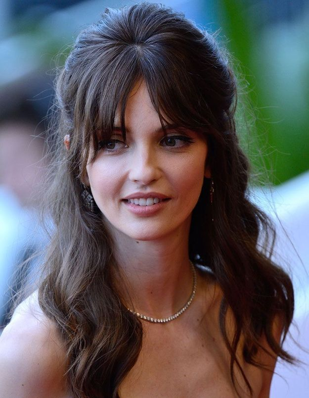 La demi-queue avec frange de Annabelle Belmondo à Cannes