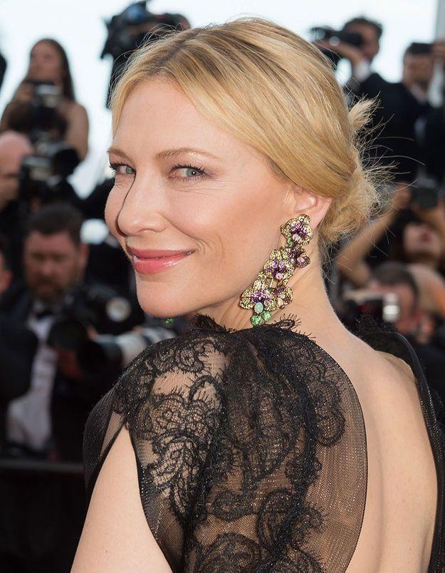 Le chignon bas de Cate Blanchett, présidente du jury à Cannes