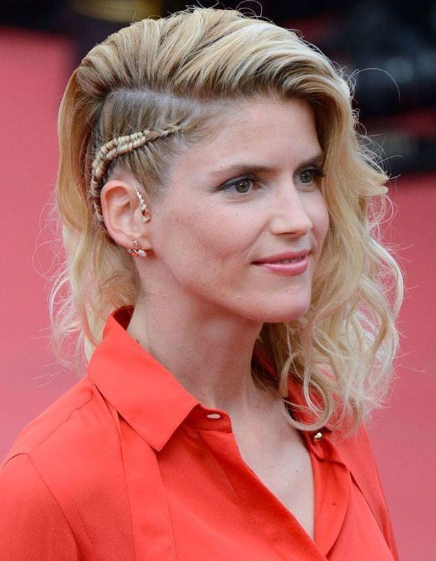 Le side hair tressé d'Alice Taglioni à Cannes
