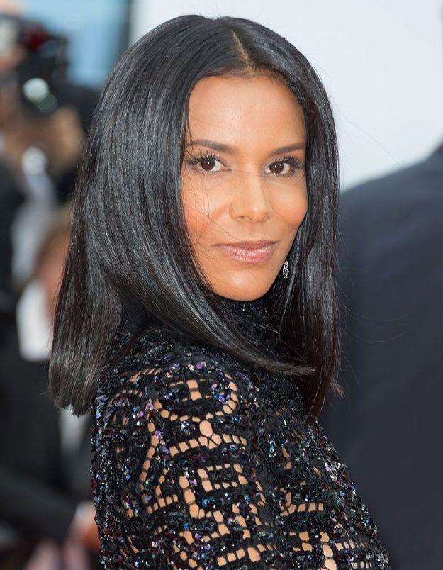 Les cheveux lisses de Shy'm à Cannes