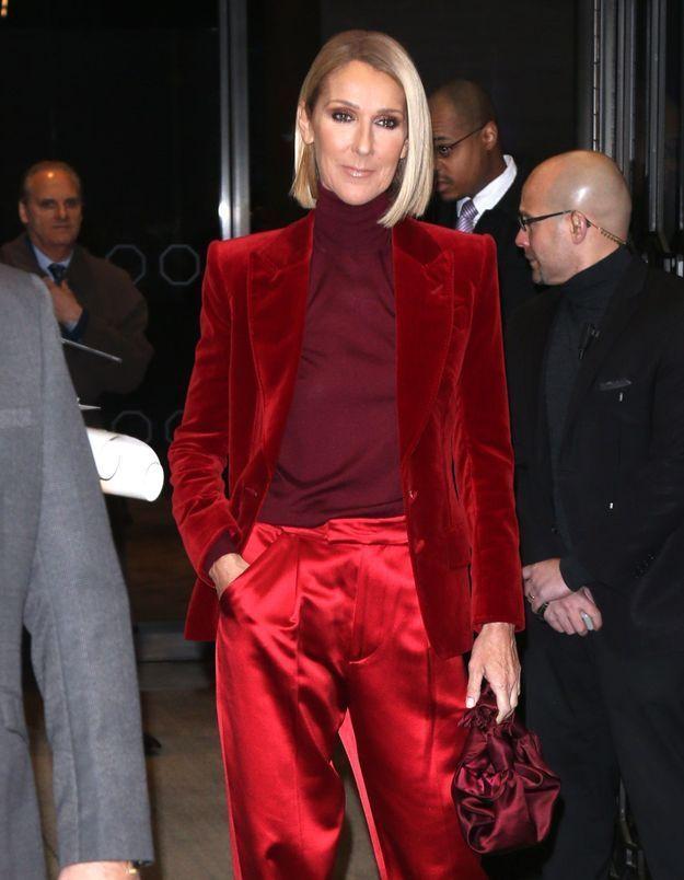 Céline Dion : elle ose les cheveux wet, et c'est canon !