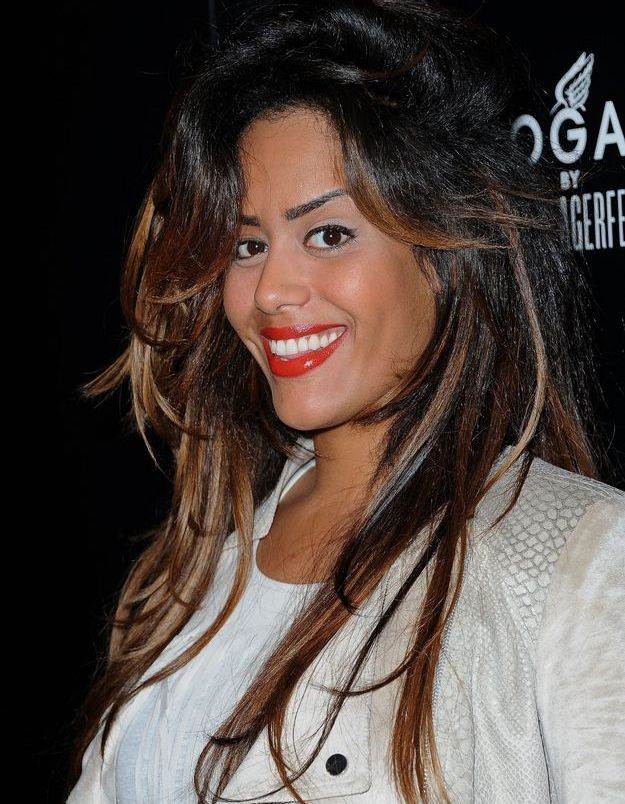 Amel Bent et son balayage en 2012