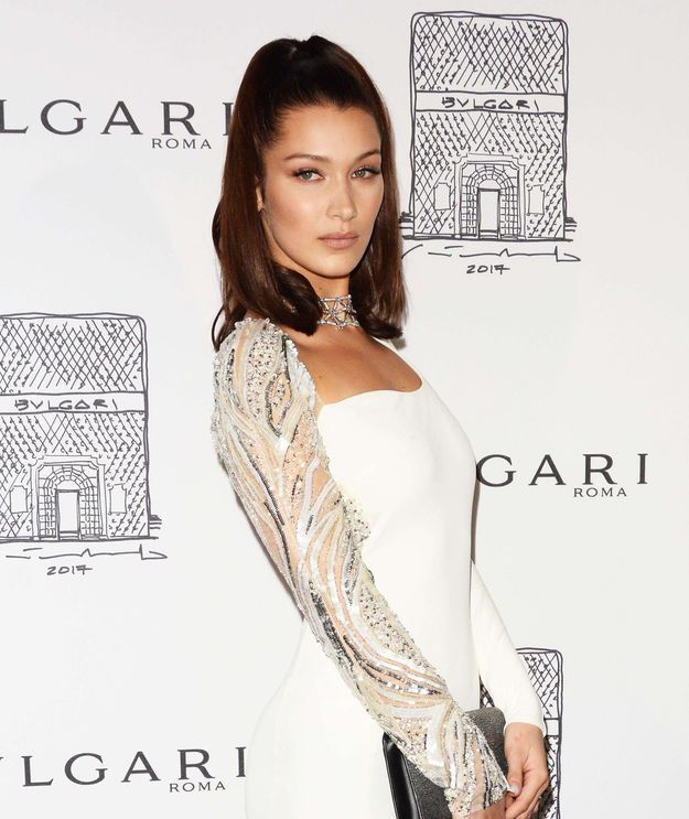 Bella Hadid et sa queue-de-cheval glamour en 2017