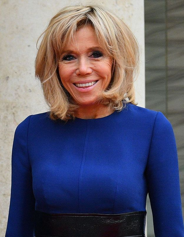 Le brushing volumineux de Brigitte Macron