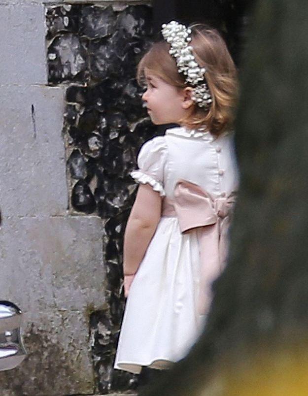 Charlotte au mariage de sa tante Pippa