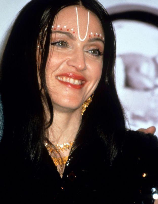 Madonna et ses cheveux bruns