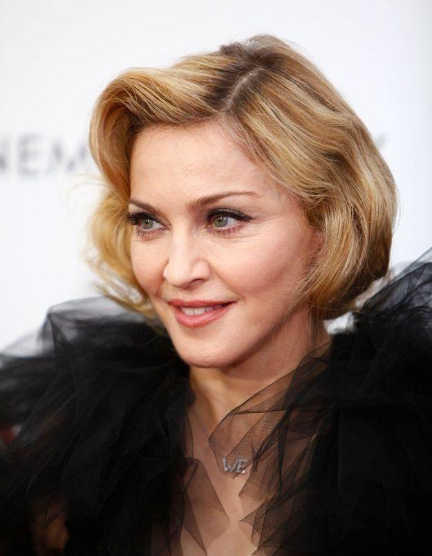 Madonna et son carré court