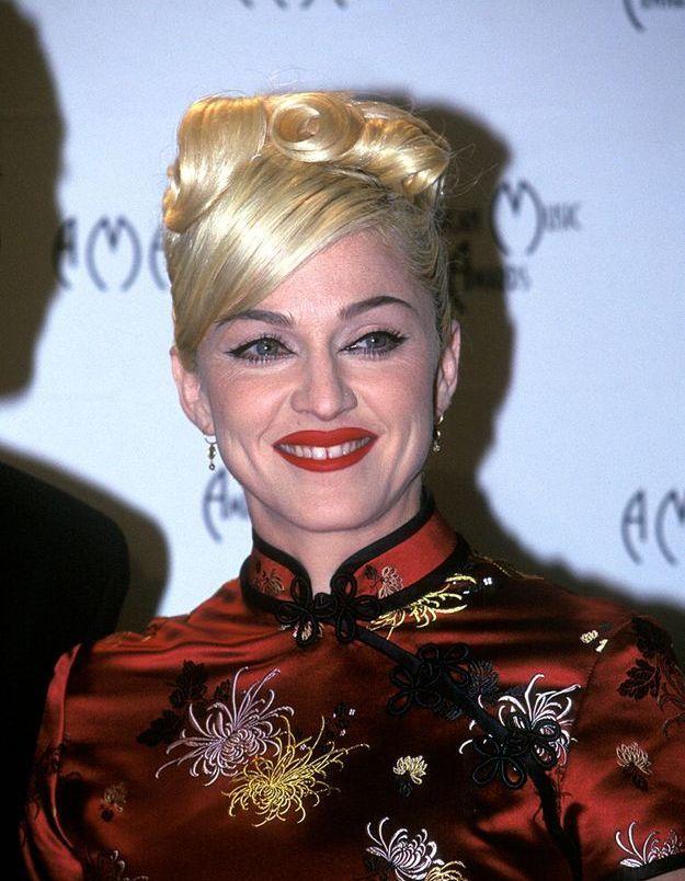 Madonna et son chignon haut