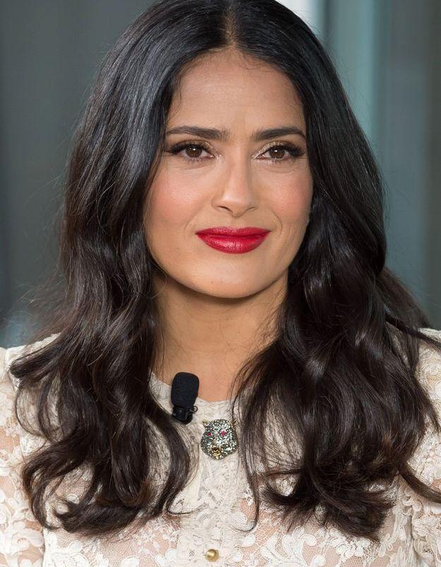 Salma Hayek et ses cheveux naturels