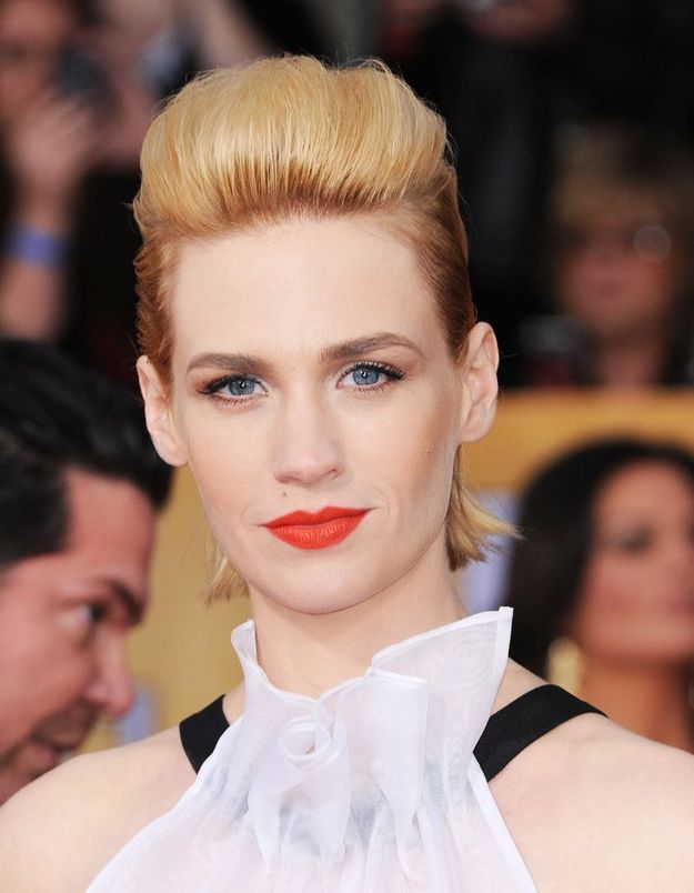 Les reflets caramel de January Jones