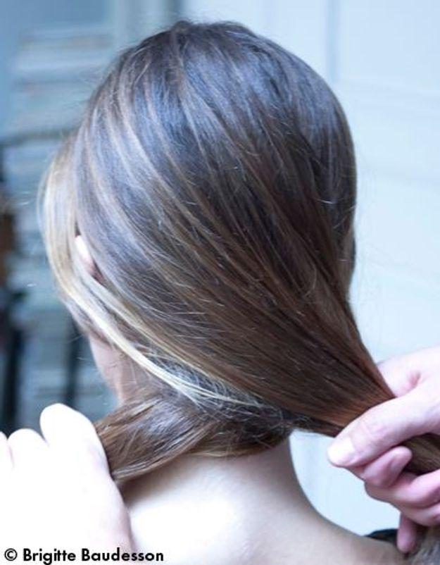 Elle Beauté Cheveux Coiffure Le Tuto De Fred Le Chignon A Barrettes 01