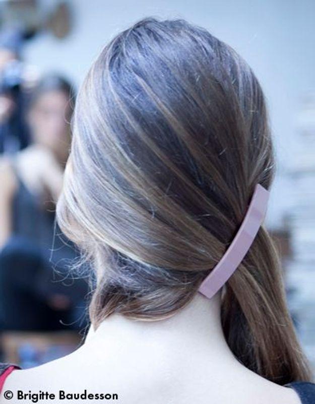 Elle Beauté Cheveux Coiffure Le Tuto De Fred Le Chignon A Barrettes 02