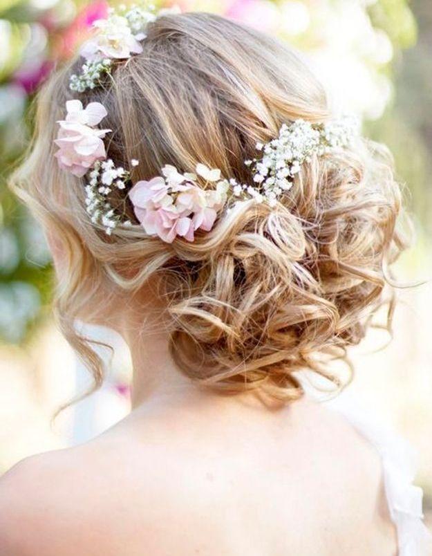 Coiffure de mariée champêtre