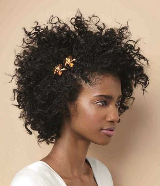 Coiffure de mariée coupe afro