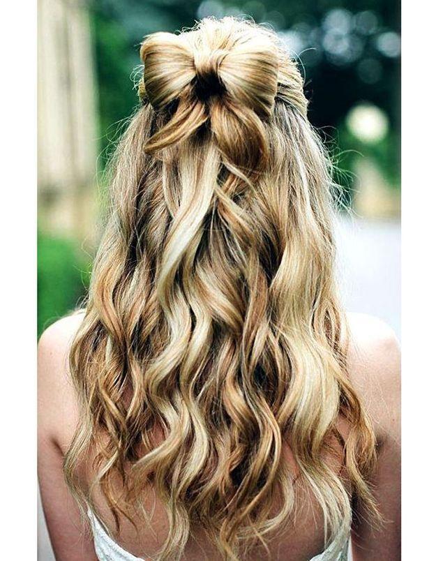 Coiffure de mariée Noeud de cheveux