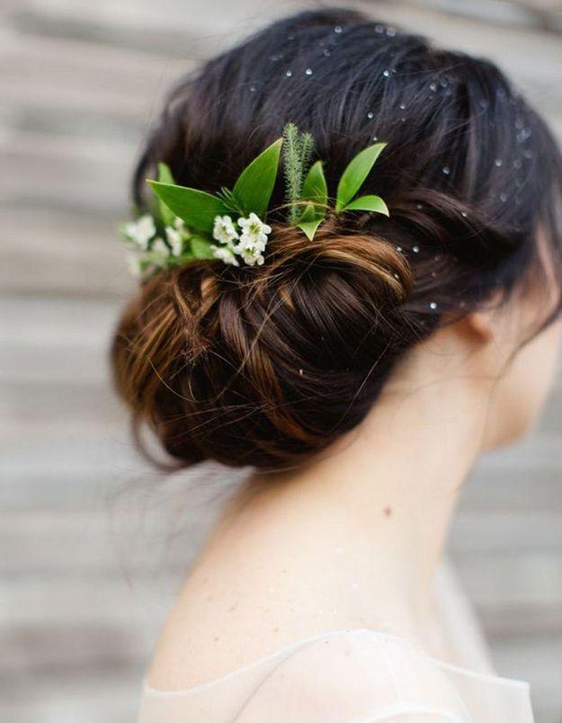 Coiffure mariée cheveux fins