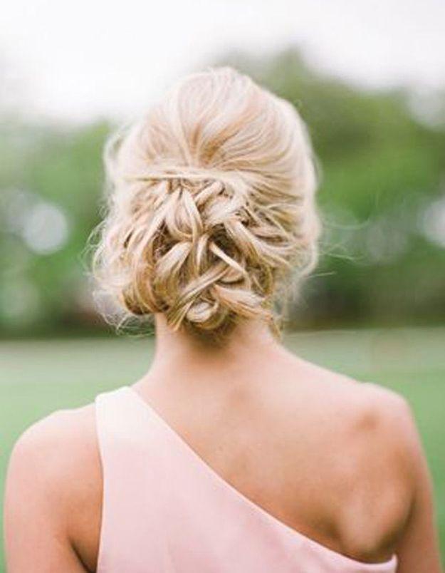 Coiffure mariée cheveux longs