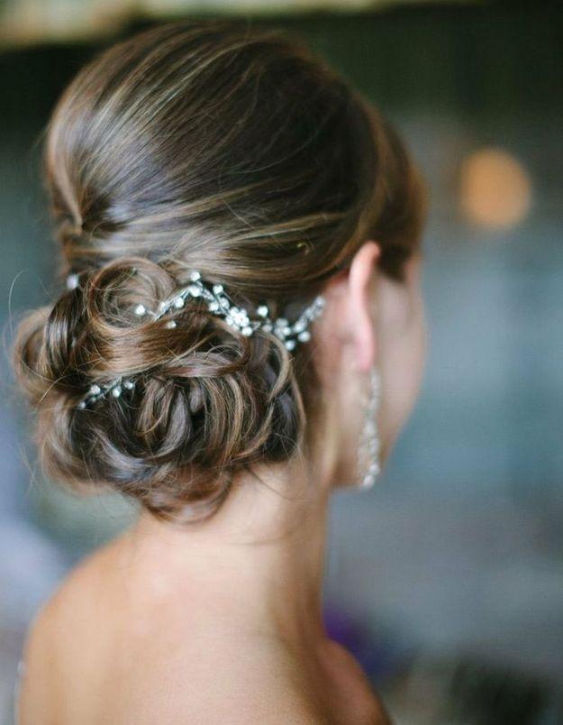 Coiffure mariée glamour