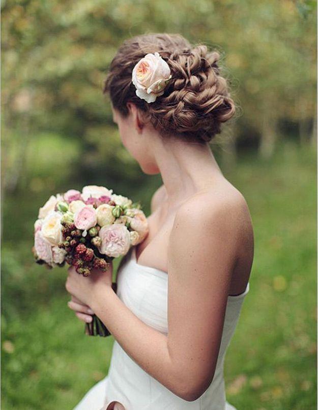 Coiffure mariée pour visage long