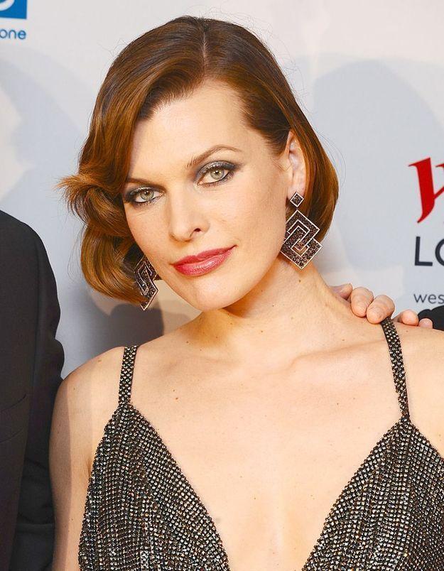 Le carré roux de Milla Jovovich