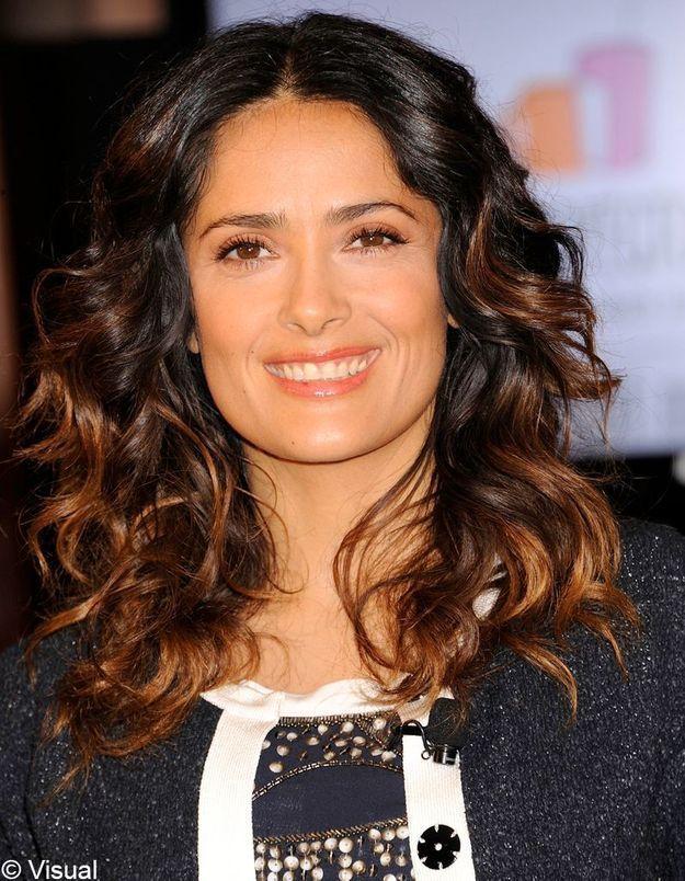 Ombré hair Salma Hayek