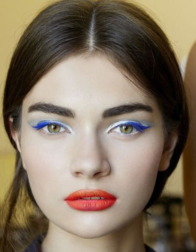 Maquillage bleu blanc rouge  quel make,up pour supporter l\u0027équipe de  France