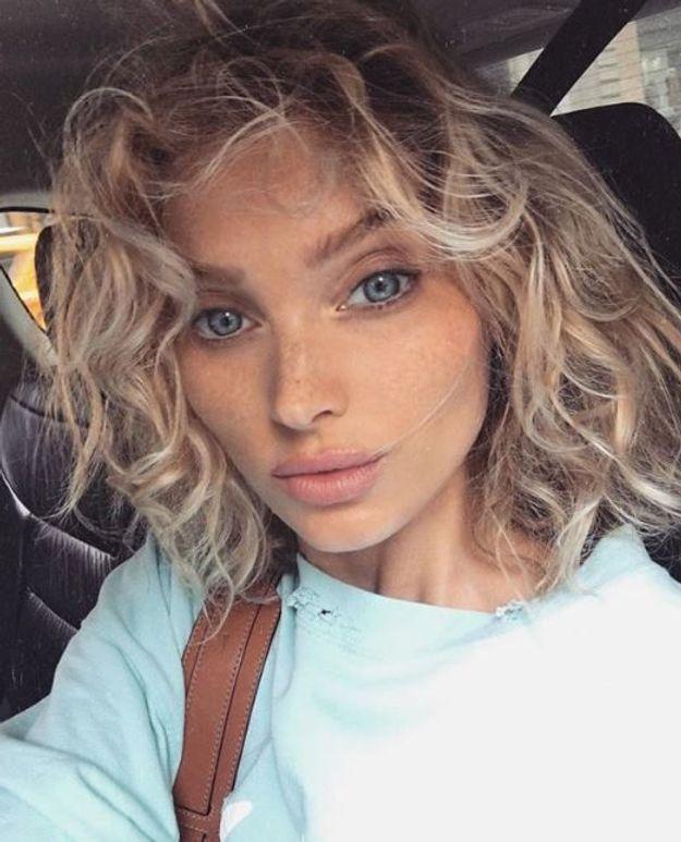 Elsa Hosk sans maquillage