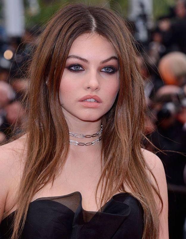 Le maquillage charbonneux de Thylane Blondeau à Cannes
