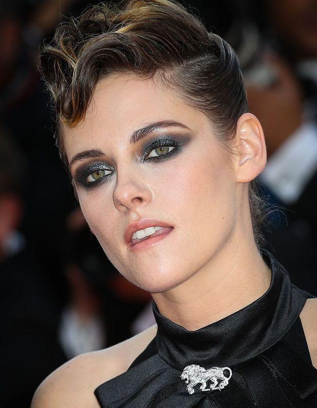 Le smoky pailleté de Kristen Stewart à Cannes