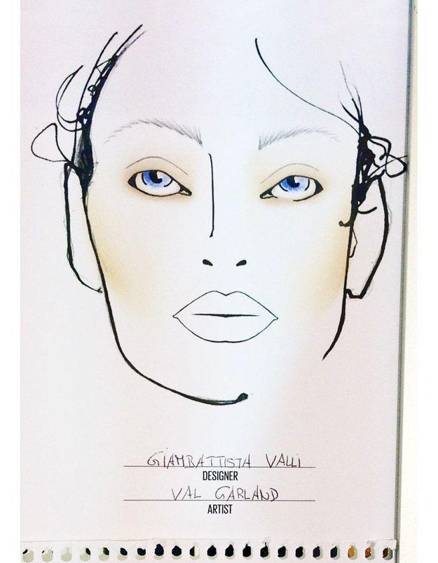 Face Chart chez Valli