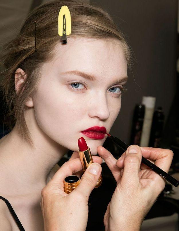 La bouche rouge intense chez Dior