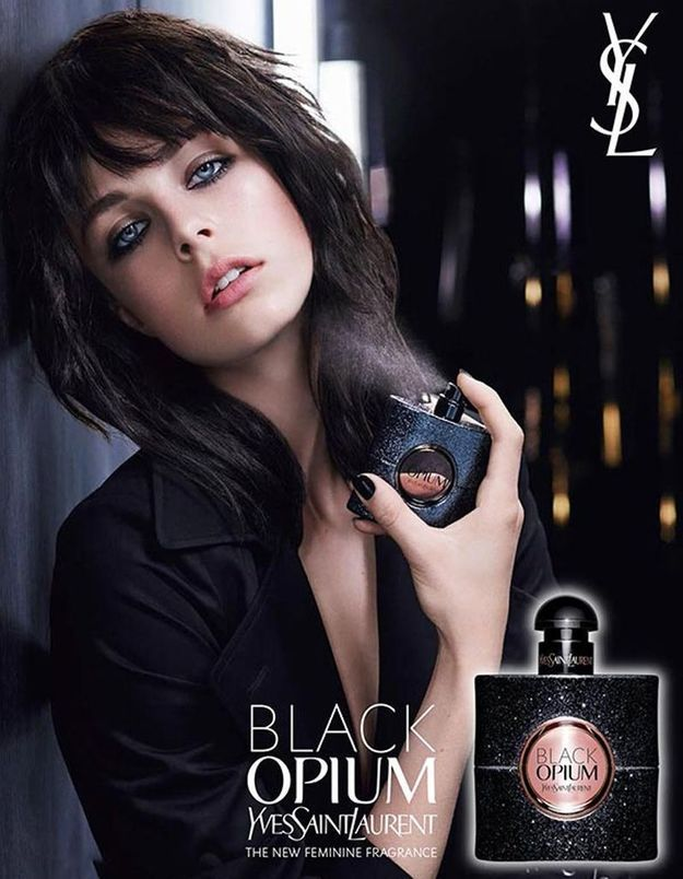 Edie Campbell pour Yves Saint Laurent