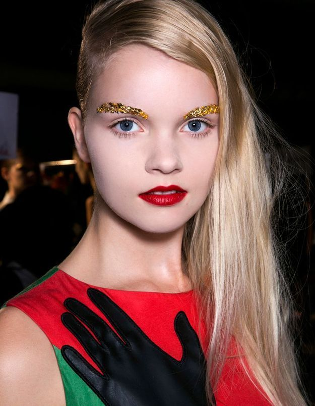 Maquillage disco doré
