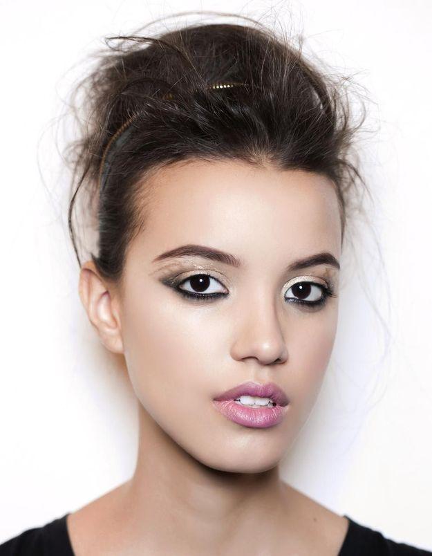 Maquillage Réveillon regard intense