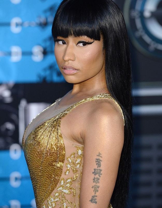 Le tatouage de lettres chinoises de Nicki Minaj