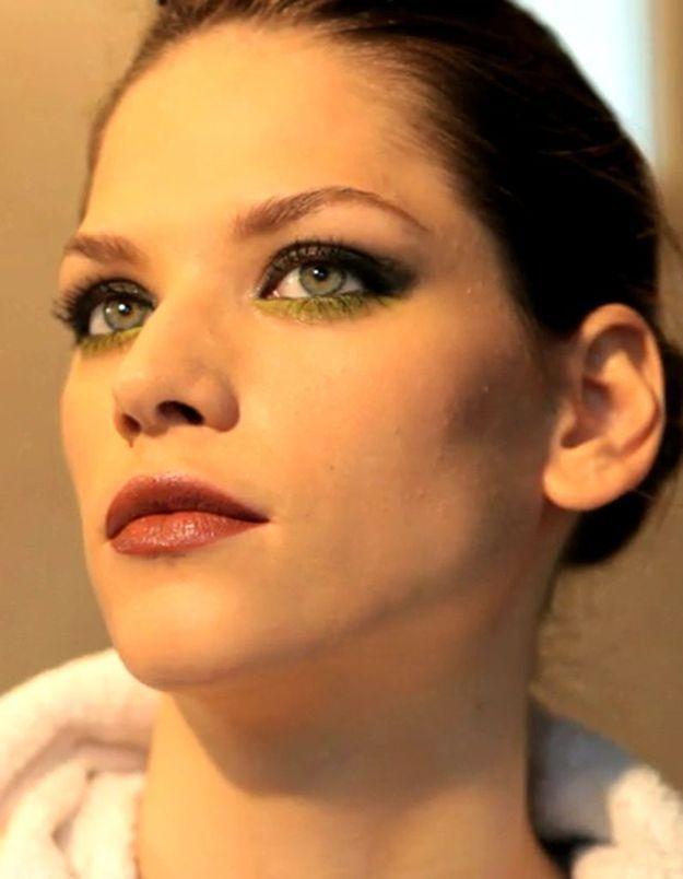 Tuto make-up : les yeux gris et vert acide d'YSL Beauté