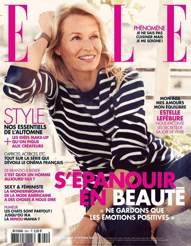 Estelle Lefébure fait la une de ELLE cette semaine
