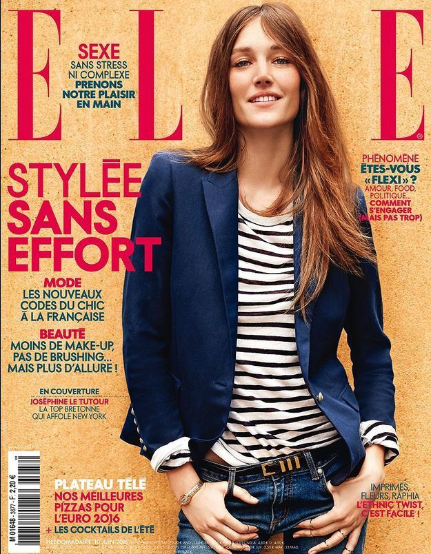 Joséphine Le Tutour en couverture de ELLE cette semaine
