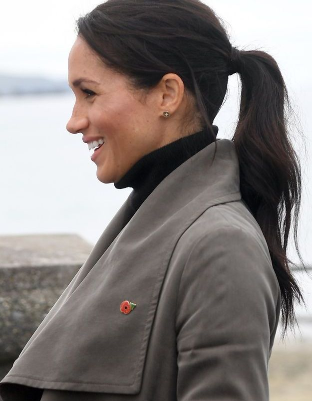 Meghan Markle et sa queue-de-cheval wavy