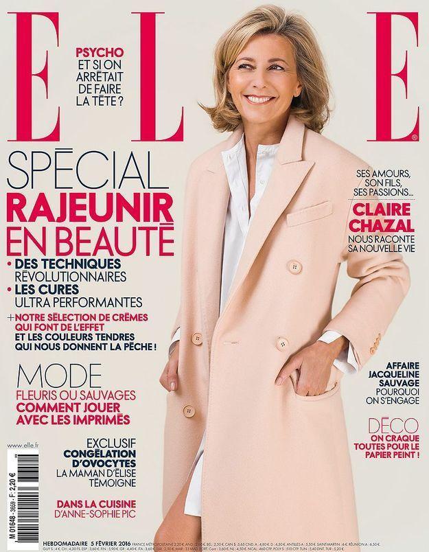 Pour la première fois, Claire Chazal en couverture de ELLE cette semaine