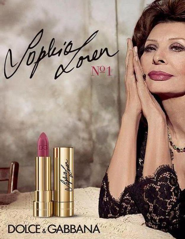 Dolce & Gabbana crée un rouge à lèvres pour Sophia Loren
