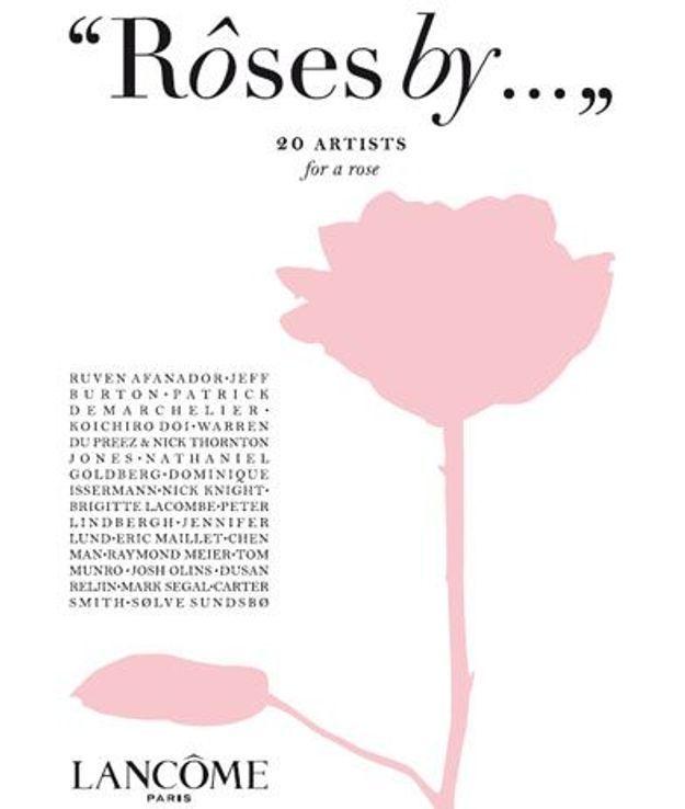 Lancôme : une exposition qui met la rose à l'honneur