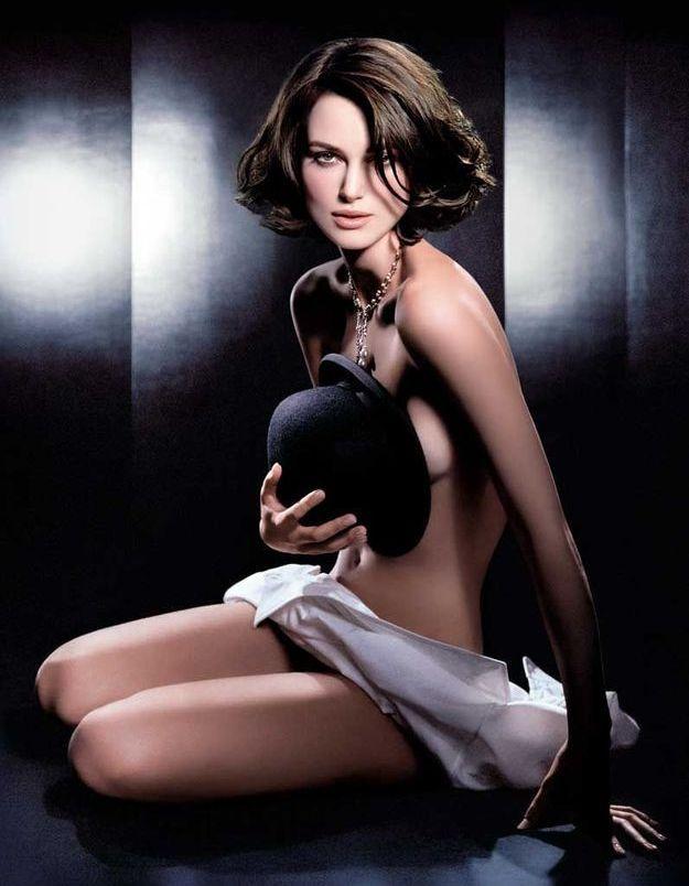 Keira Knightley en 2007 pour sa première campagne Coco Mademoiselle