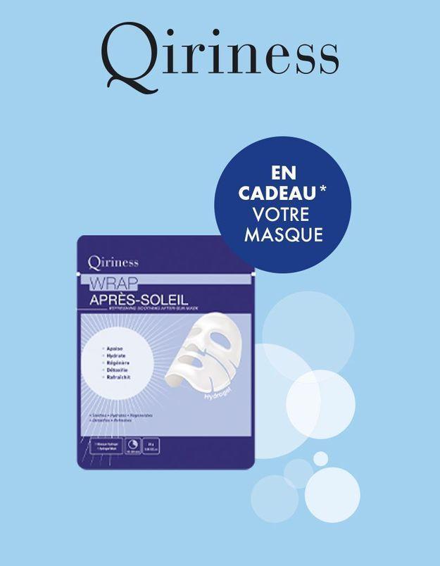 En cadeau avec votre magazine : un masque Après-Soleil QIRINESS pour un teint hâlé sublimé !