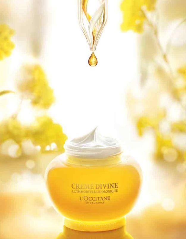 La Crème Divine Immortelle de l'Occitane : le secret d'une peau rayonnante de jeunesse