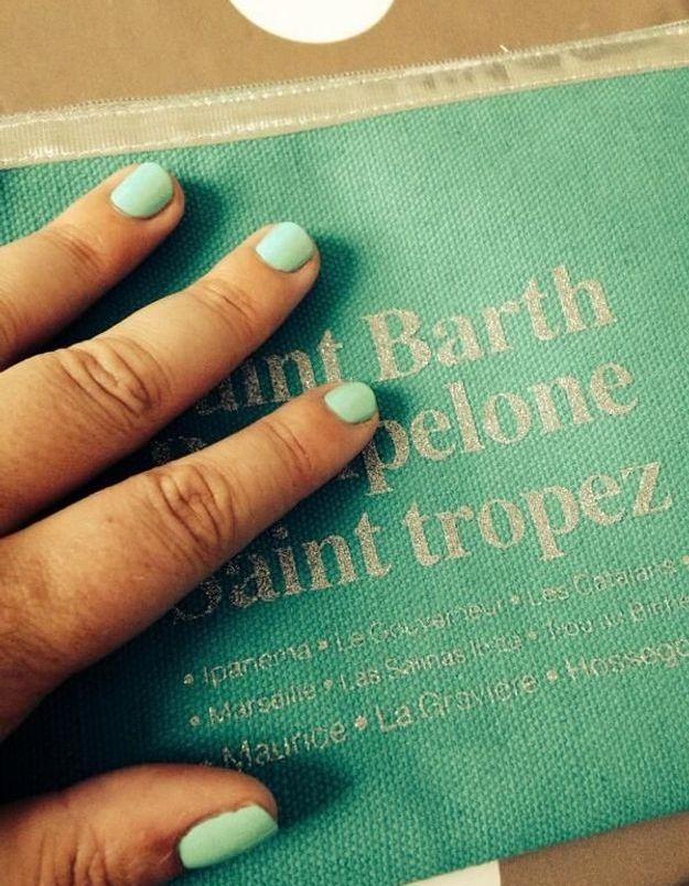 Le vernis turquoise de Stéphanie R.