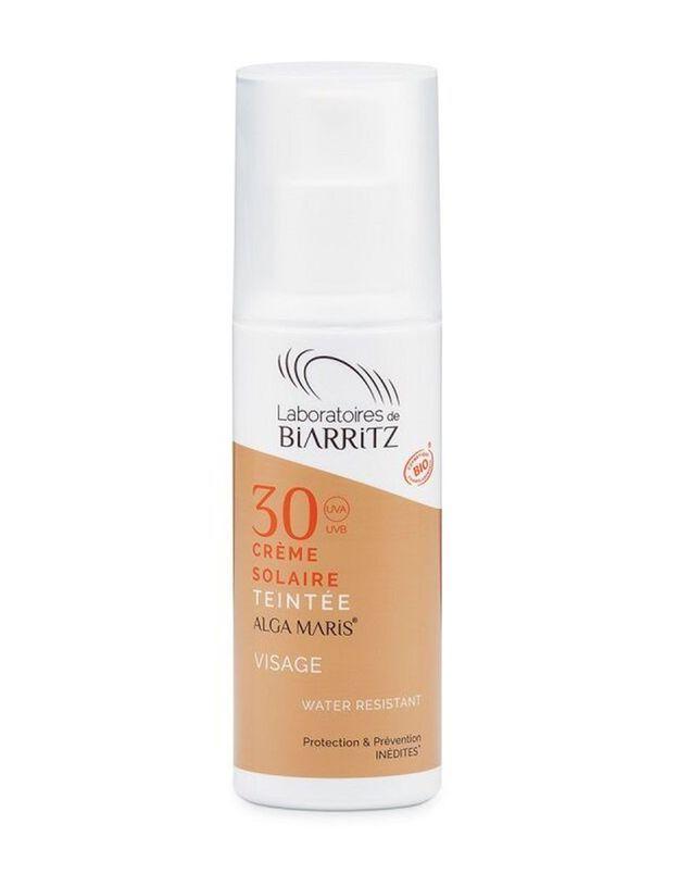 Crème solaire teintée SPF 30, Laboratoires Biarritz
