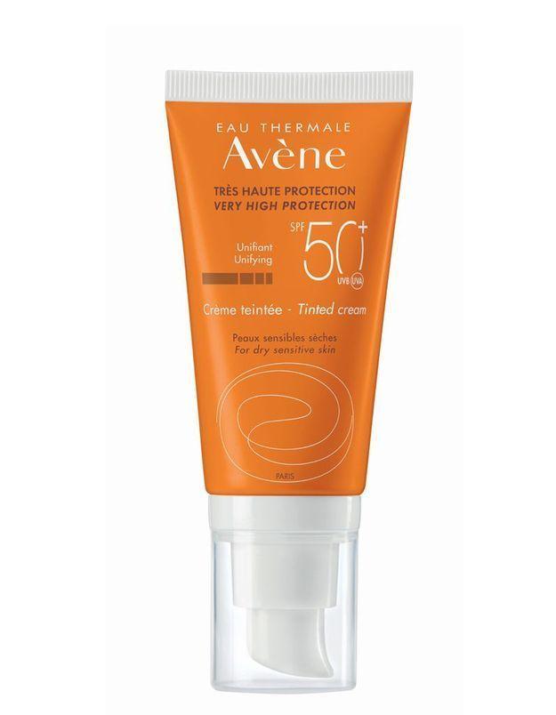 Crème solaire teintée SPF 50+, Avène
