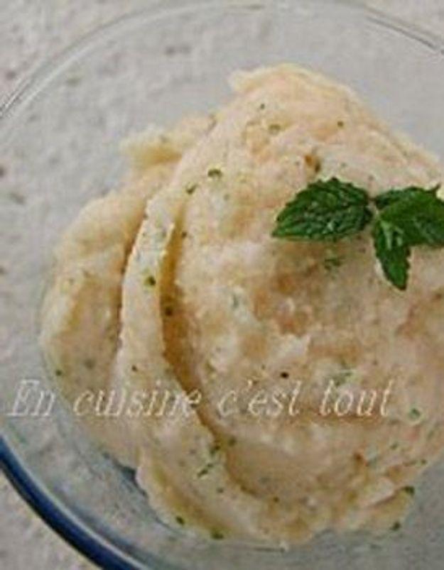 """En cuisine c'est tout : """"Sorbet melon menthe sans sorbetière"""""""