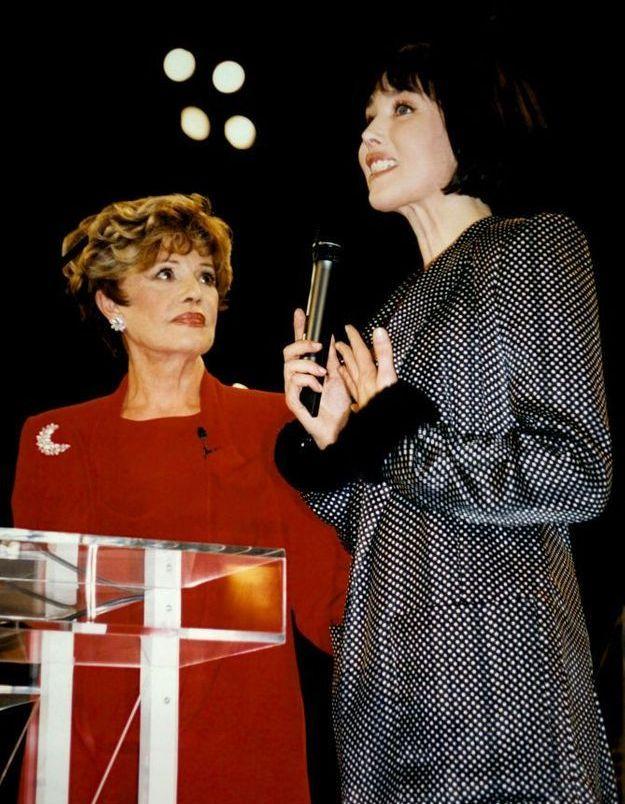 Isabelle Adjani et Jeanne Moreau en 1997 pour la cérémonie de clôture du Festival de Cannes